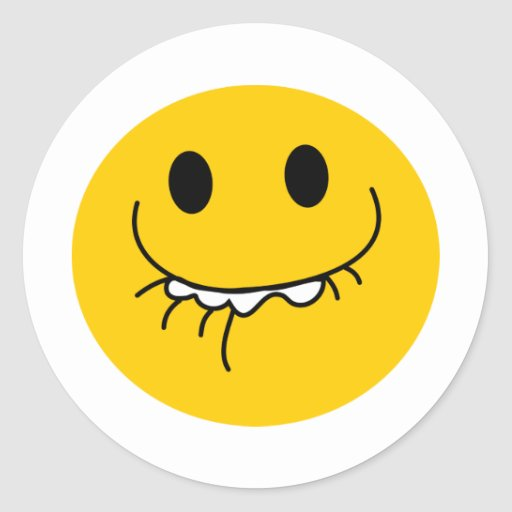 Suppressed laughing yellow smiley face stickers
