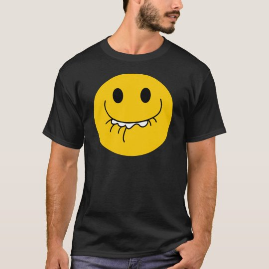 Suppressed laughing yellow smiley face T-Shirt