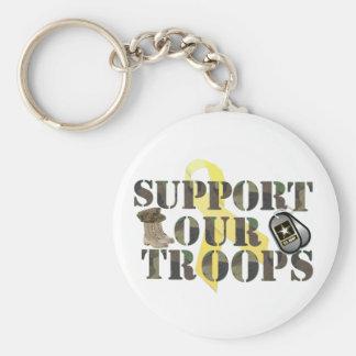 supprot nuestras tropas llavero redondo tipo pin