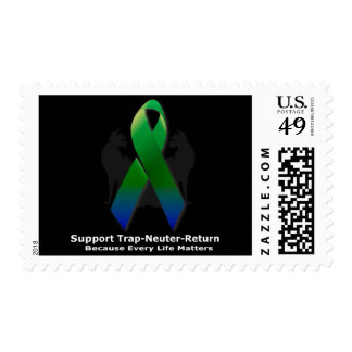Supprt Trap Neuter Return Colors of Hope Postage Stamps