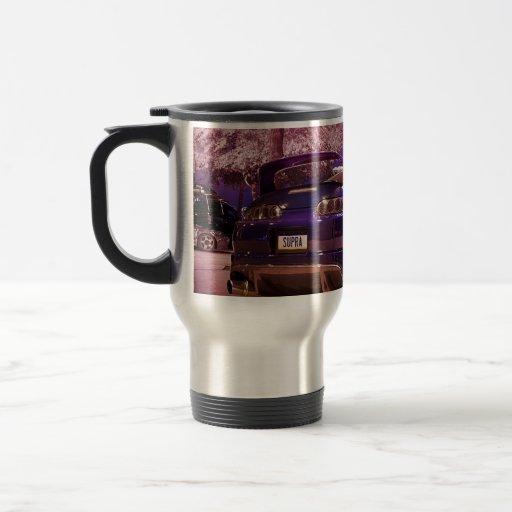 Supra fotografía taza de café