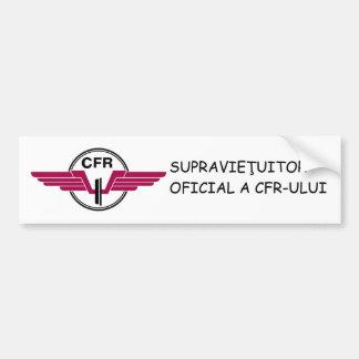 SUPRAVIEŢUITOR CFR - Bumper Sticker Car Bumper Sticker