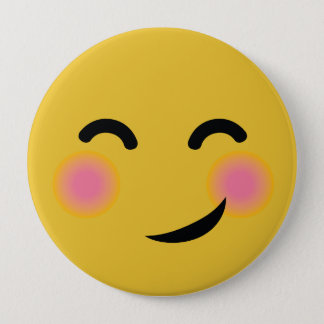 Supre cute blushing emoji button