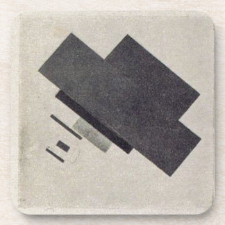 Suprematic track by Kazimir Malevich Drink Coaster