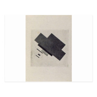 Suprematic track by Kazimir Malevich Postcard