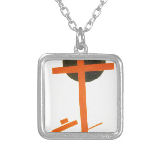 Suprematism by Kazimir Malevich Silver Plated Necklace