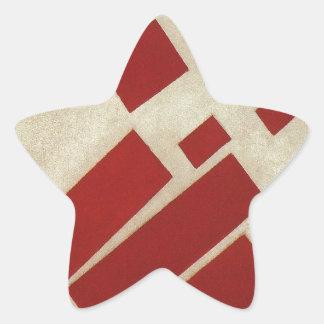 Suprematism con ocho rectángulos de Kazimir Malev Pegatina En Forma De Estrella