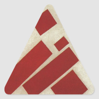 Suprematism con ocho rectángulos de Kazimir Malev Pegatina Triangular