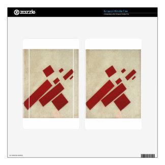 Suprematism con ocho rectángulos de Kazimir Malev Pegatinas Skins Para Kindle Fire