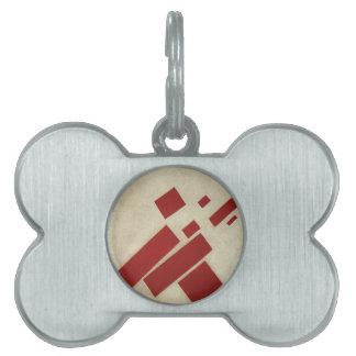Suprematism con ocho rectángulos de Kazimir Malev Placa Mascota