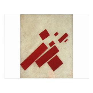Suprematism con ocho rectángulos de Kazimir Malev Postal
