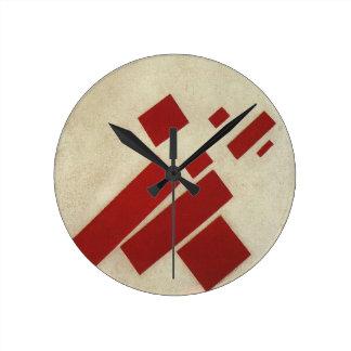 Suprematism con ocho rectángulos de Kazimir Malev Reloj Redondo Mediano