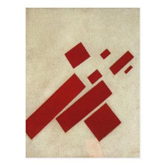 Suprematism con ocho rectángulos de Kazimir Malev Tarjetas Postales