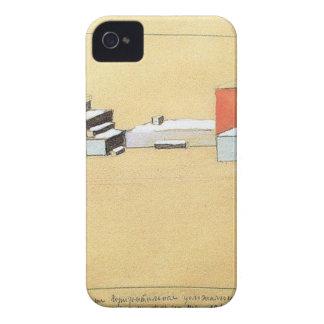 Suprematism espacial de Kazimir Malevich Carcasa Para iPhone 4 De Case-Mate
