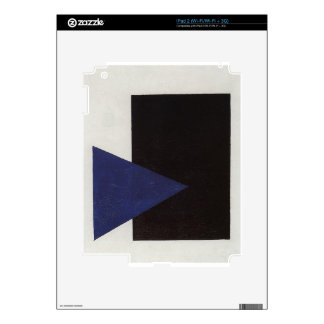 Suprematism with Blue Triangle and Black Square Decals For iPad 2
