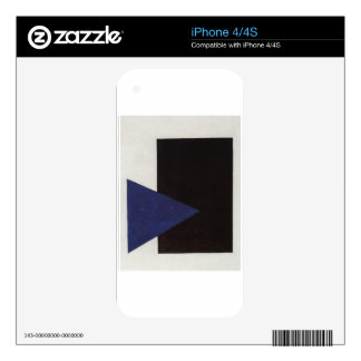 Suprematism with Blue Triangle and Black Square Skin For The iPhone 4