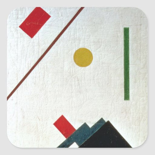 Suprematist Composition, 1915 Pegatina Cuadrada