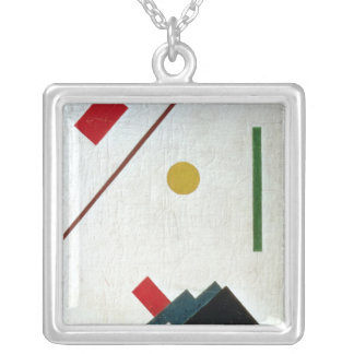 Suprematist Composition, 1915 Silver Plated Necklace