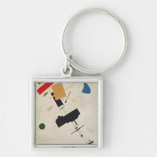 Suprematist Composition No.56, 1936 Silver-Colored Square Keychain