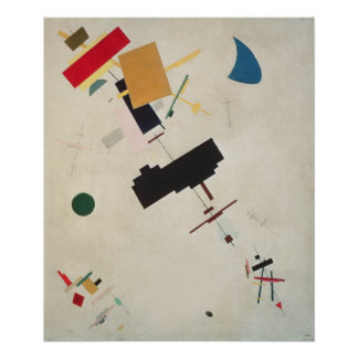Suprematist Composition No.56, 1936 Poster