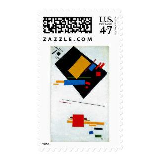 Suprematist (con el trapecio negro y el cuadrado sellos