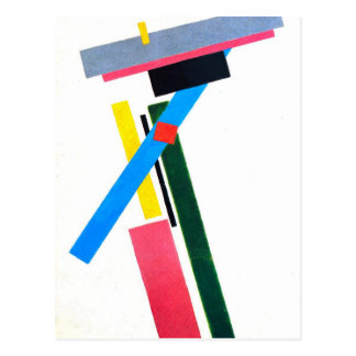 Suprematistic Construction by Kazimir Malevich Postcard