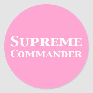Supreme Commander Gifts Classic Round Sticker