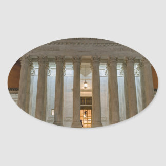 Supreme Court at Night Oval Sticker