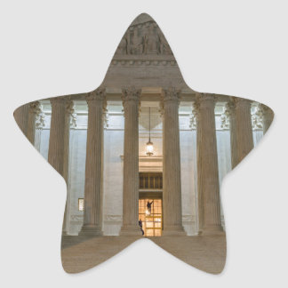 Supreme Court at Night Star Sticker
