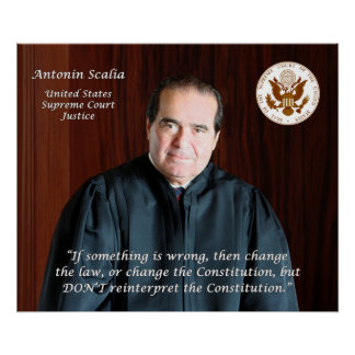Supreme Court Justice Antonin Scalia & Court Seal Poster