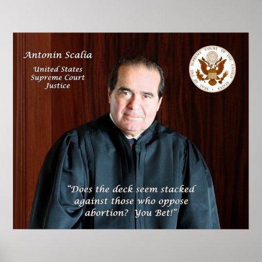 Supreme Court Justice Antonin Scalia Poster