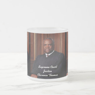 Supreme Court Justice Clarence Thomas Frosted Glass Coffee Mug