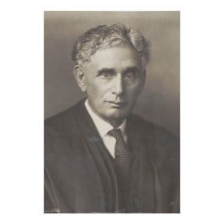 Supreme Court Justice Louis Dembitz Brandeis Poster