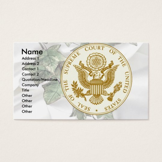 Supreme Court Seal on Ivy & Satin Business Card