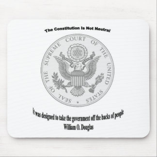 Supreme Court Symbol with quote Mouse Pad