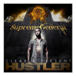 """Supreme General """"Clear & Present"""" cover poster"""