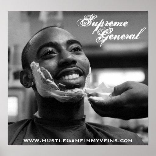 Supreme General Smiling shave poster
