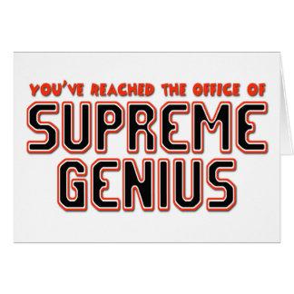 Supreme Genius Card