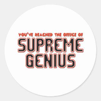 Supreme Genius Classic Round Sticker