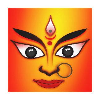Supreme Goddess Durga Stretched Canvas Print