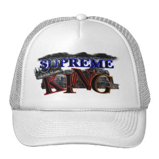 supreme king klick logo trucker hat
