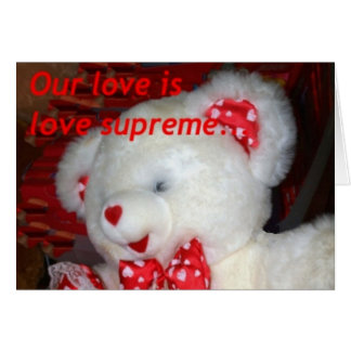 Supreme love teddy card