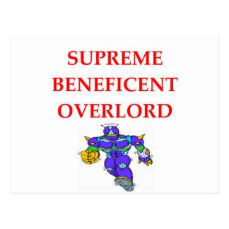 SUPREME overlord Postcard
