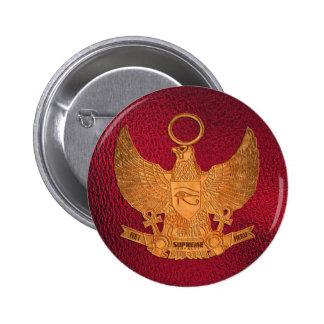 Supreme Royalty Het Heru Button Ruby Red Gold