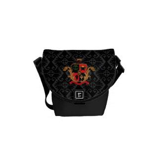 Supreme Royalty Nobility Crest Msg Bag (Blck/Grey)