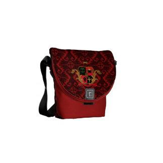 Supreme Royalty Nobility Crest Msg Bag (Red/Blck)