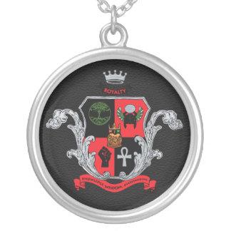 Supreme Royalty Nobility Crest Necklace (Blk,Slvr)