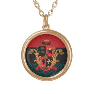 Supreme Royalty Nobility Crest Necklace (Gold/Tri)