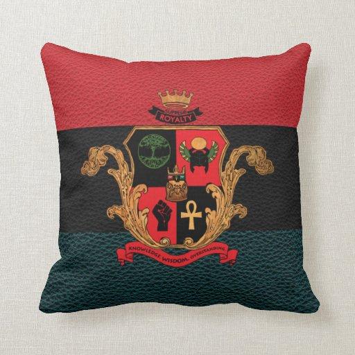 Supreme Royalty Nobility Crest Pillow(Tri,Black)