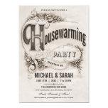 Supreme Vintage Housewarming Party Invitations (Visit shop for more vintage and retro housewarming party invitations. Type